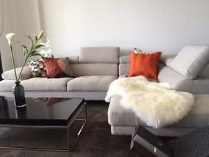 Clearance Sale - Six Seater Fabric Lounge - Newly New!!! Wolli Creek Rockdale Area Preview