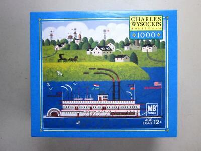 Charles Wysocki's 1000 Piece MB Puzzle 2005 MENDOCINO Paddle Boat NEW Sealed for sale  Shipping to India