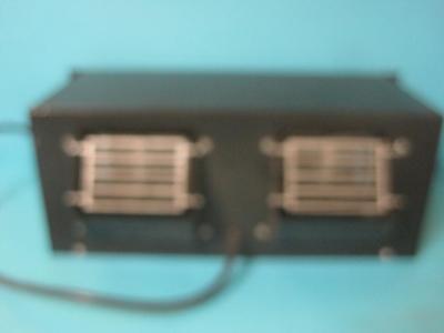 Kooltronic Kp711a Rackmount Twin Blower Fan Unit 115v 5060hz Markviii Black