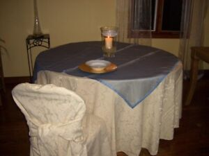 Table cloths, chair covers, napkins