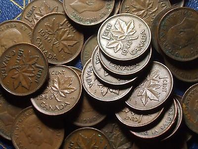 1946 CANADIAN SMALL CENTS KING GEORGE VI        BUY ONE OR BUY THEM ALL