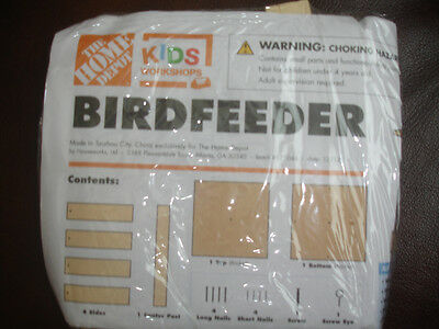 HOME DEPOT KIDS WORKSHOP BIRD FEEDER KIT LOWES BUILD & GROW WOOD PROJECT WOODEN