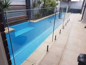 Used 12mm thick glass swimming Pool fence X 4 with 1 Gate Northgate Port Adelaide Area Preview
