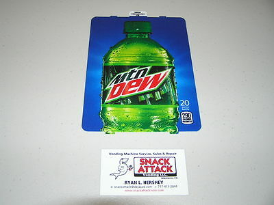 Dixie Narco 501e 276hv Soda Vending Machine Dew 20oz Bottle Vend Label