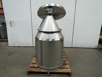 Cone Bottom Stainless Steel Dry Storage Bin Loader Hopper 16 Cubic Ft