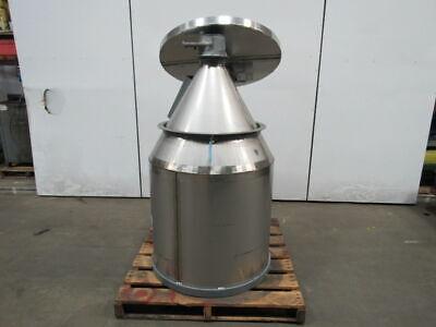 Cone Bottom Stainless Steel Dry Storage Bin Loader Hopper 16 Cubic Ft