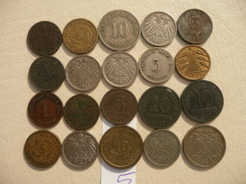 Lot of 20 Germany Coins - Empire and Weimar - Lot 5