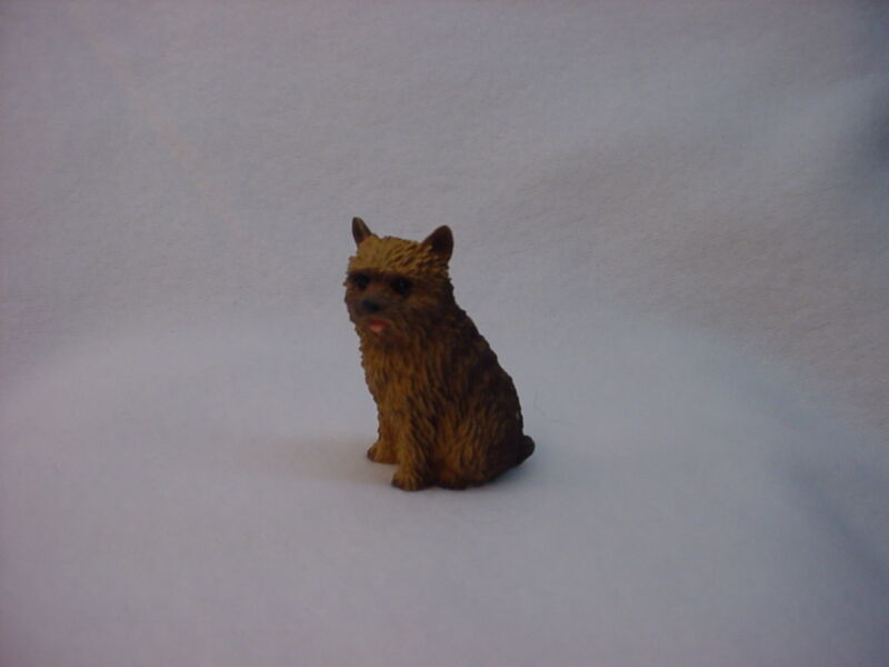 NORWICH TERRIER dog FIGURINE resin HAND PAINTED MINIATURE small mini statue NEW