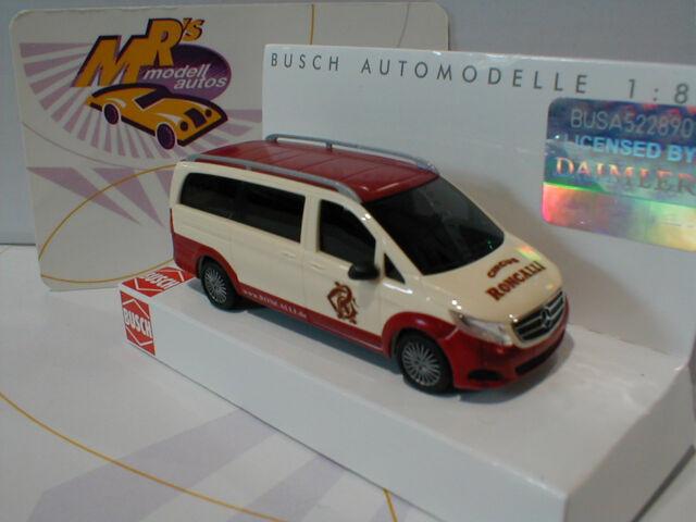 """Busch 51163 # Mercedes-Benz V-Klasse Baujahr 1999 """" Roncalli """" cremweiß-rot 1:87"""