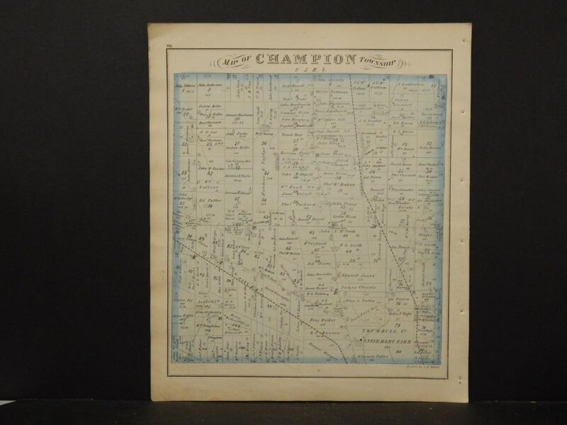 Ohio, Trumbel County Map, 1874 Township of Champion K4#15