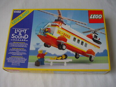 LEGO TOWN 6482 RESCUE HELICOPTER -100% COMPLETE VINTAGE BOXED SET 1989