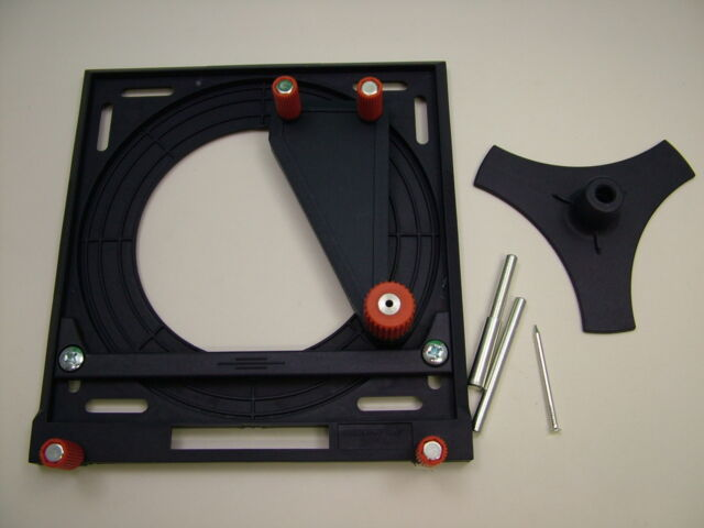 Router guide for KWB Line Master machine guide rail system, circles,curves,radii