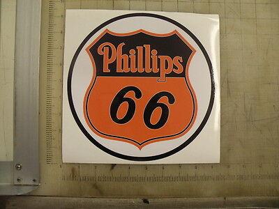"""Vintage Phillips 66 orange round sticker 9"""" diameter"""