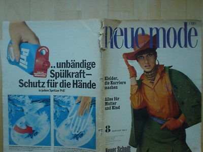 Neue Mode 1967/08 w/Burda Hosenanzüge Mutter + Kind Umstandsmode Kostüm 60er ++ - 60er Mode Kostüm