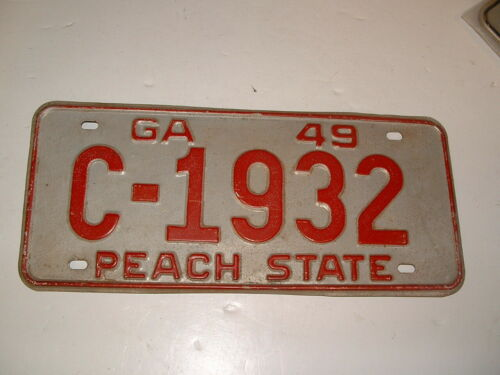 1949 Georgia License Plate 1932 Chevy Ford Rat Rod