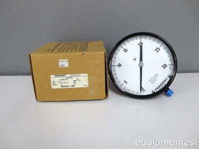 New Ashcroft Duragauge 45-2462as-02l 30 Pressure Gauge 30 Psi 4-12 Inch