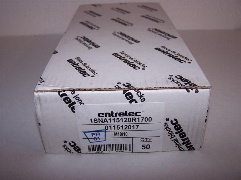ABB ENTRELEC 1SNA115120R1700 TERMINAL BLOCK NEW IN BOX  LOT OF 50