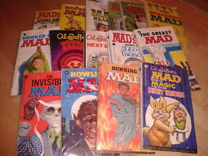 Mad Magazine Alfred E Neuman paperback lot of 15