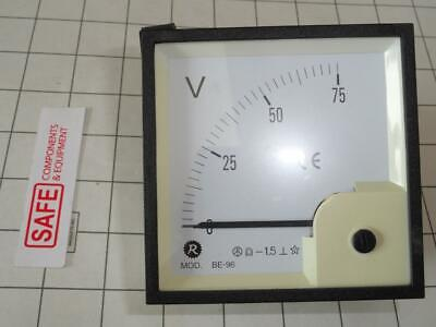 Risesun Dc Volt Meter 90 Scale 75v Analog Be-96 Panel 96mm Dc Coil Mm-564