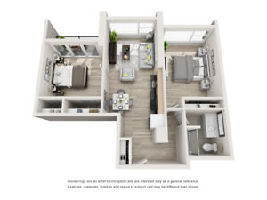 Spectacular 2 bedroom @ The Vuze in South Village
