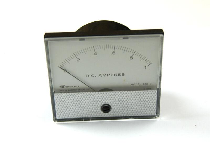 DC AMMETER 0-1 AMP BY TRIPLETT  (C-6-4-5-31)