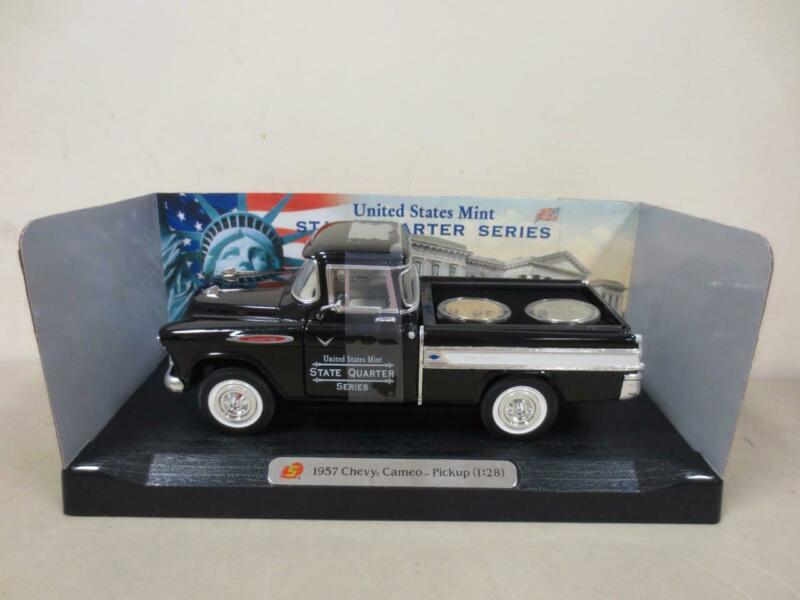 U.S. Mint Two Quarter Set -Delaware- in 1957 Chevy Cameo - Collectible