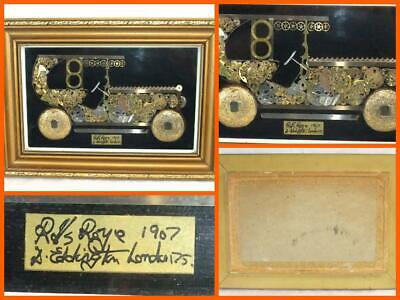 Horological 1907 Rolls Royce Watch Parts D Eddington Of London 1975 Framed Art