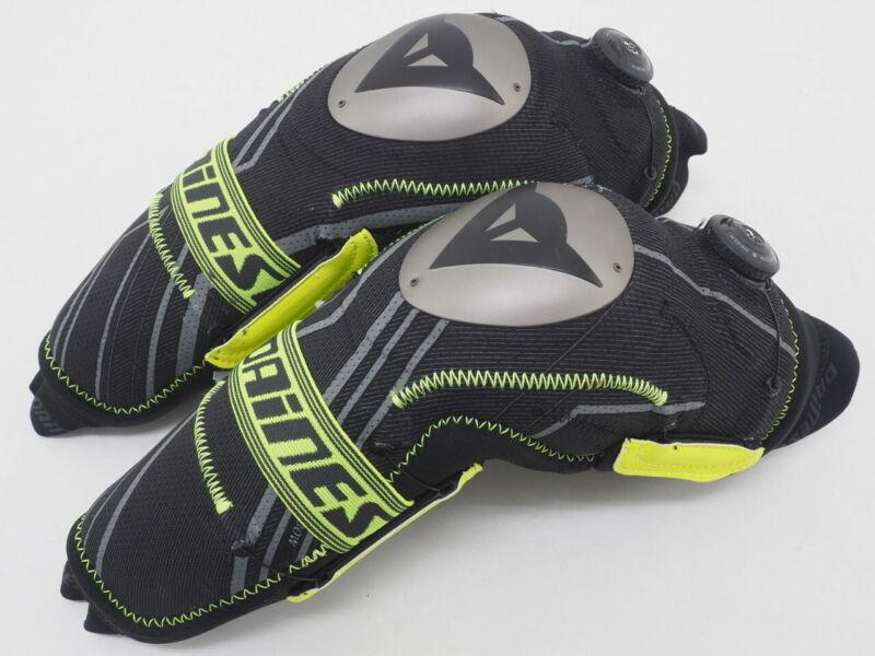 New! Dainese Oak Pro MTB/BMX Cycling Elbow Guards Size Small (Black/Yellow)