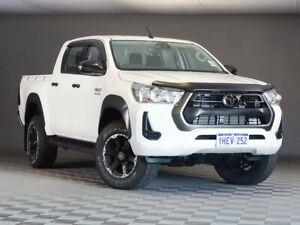 2020 Toyota Hilux GUN126R SR Double Cab White 6 Speed Manual Utility