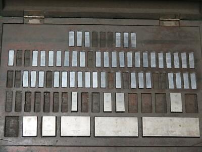 Vintage Dearborn Gage Block Set Kit Gauge .1001-4 Chromium Plated 81-w 111942