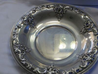 Grande Baroque by Wallace Sterling Silver Bowl Or Underplate #4850-9 Vintage