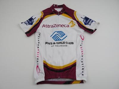 V-Gear Mens Astra Zeneca Cycles Bike Jersey Size Small Race Fit Boys Girls Club