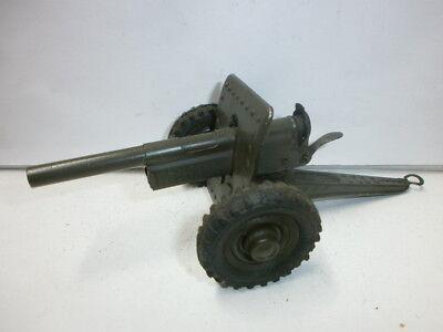 alte Hausser Elastolin Blech Kanone Pak 17cm für Massesoldaten zu 7.5cm