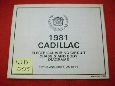 "1981 GM CADILLAC DEVILLE & BROUGHAM ""BODY"" ELECTRICAL WIRING CIRCUIT DIAGRAM"