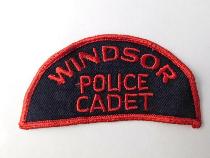 WINDSOR POLICE CADET VINTAGE PATCH BADGE ONTARIO CANADA  COLLECTOR