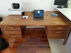 Old Wooden Office Desk Dee Why Manly Area Preview