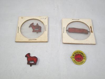 Vintage Tobacco Tags: Lucky Joe, Browns Mule, Hancock Bros - Lot of 4