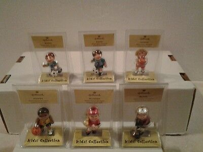 Lot of 6 Hallmark Merry Miniatures Kids Collection Sports figures - NIP