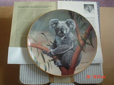 W S George Fine China Collectors Plate THE KOALA From NATURES LOVABLES