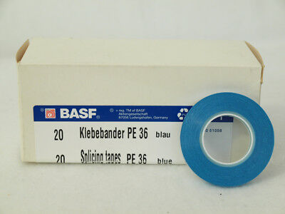 1x BASF Klebeband PE36 PE 36 ** NEU * 5,8mm x 25m Blau * Splicing Tapes Tonband
