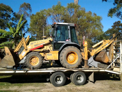 Case Backhoe and Tag Trailer