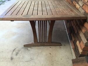 wooden outdoor table Greenfield Park Fairfield Area Preview