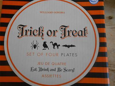 8 Williams SOnoma Trick or Treat Halloween Appetizer Plates NIB  (Halloween Appetizers)