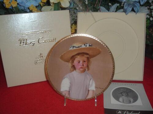 PICKARD  Child in a Straw Hat, NEW, Mint, w/Original Box
