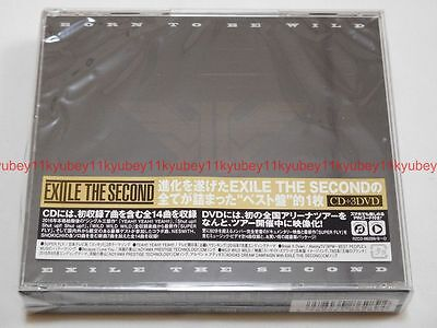 New EXILE THE SECOND BORN TO BE WILD CD 3 DVD Japan F/S RZCD-86289 (Exile The Second Born To Be Wild)