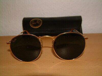 Ray-Ban Sonnenbrille Gold rund alt 90er gebraucht Damen Damensonnenbrille