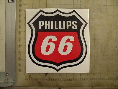 "Vintage Phillips 66 Gasoline black out. sticker 8.8""x9"""