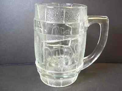 Dad's Root Beer Barrel heavy embossed glass beer mug 10 oz