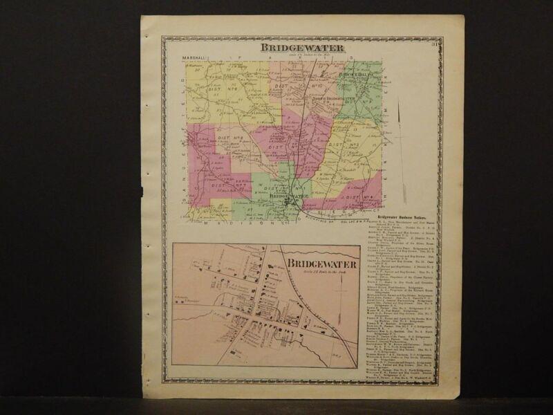 New York, Oneida County Map, 1874 Town of Bridgewater Z2#84
