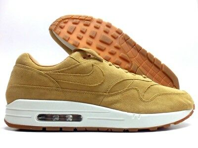 NIKE AIR MAX 1 PREMIUM FLAX/SAIL-GUM MED BROWN SIZE MEN'S 14 [875844-203]